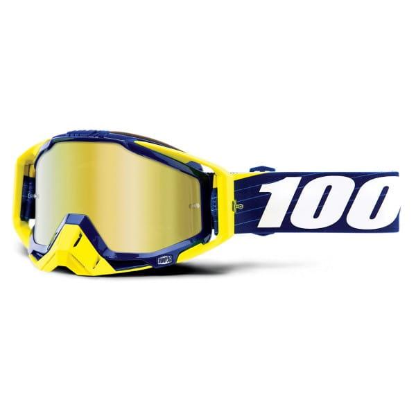 Racecraft Goggle Anti Fog Mirror Lens - Bilal/Navy