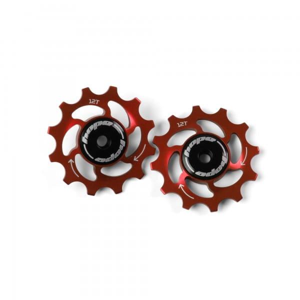 Jockey Wheels Schaltrollen - 12Z - rot