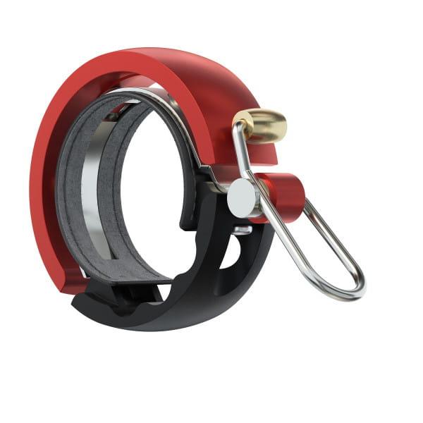 Oi Luxe Fahrradklingel - Schwarz/Rot - Large, 23.8mm-31.8mm