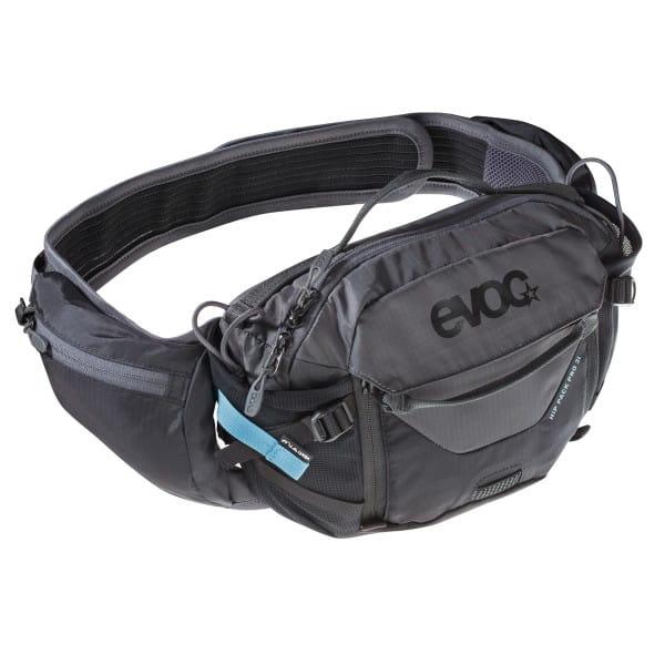 Hip Pack Pro 3l + 1,5l Trinkblase Hüfttasche - Schwarz/Grau