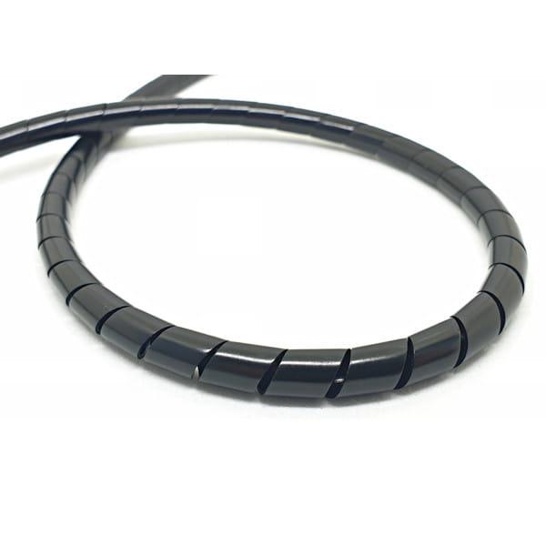 Spiral hose for brake line 2m - black