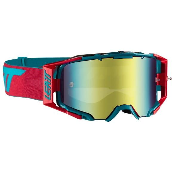 Velocity 6.5 Iriz Goggles Anti Fog Mirror Lens - Rot