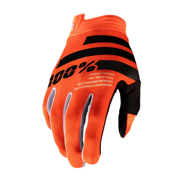 iTrack Youth Glove - Orange/Schwarz