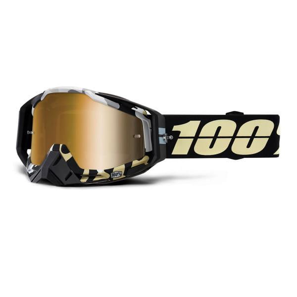 Racecraft Goggles Anti Fog Mirror Lens - Schwarz/Gold