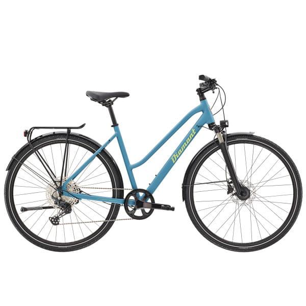 Elan Super Deluxe - 28 Zoll Trapez Trekkingrad - Zirkon Blau