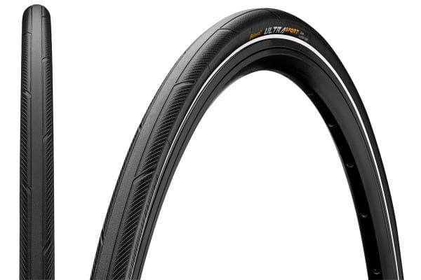 Ultra Sport III - Faltreifen - 700x23C Zoll - Schwarz/Weiß