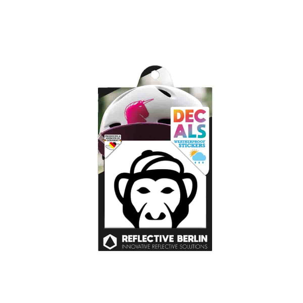 Reflective DECAL - Monkey - schwarz