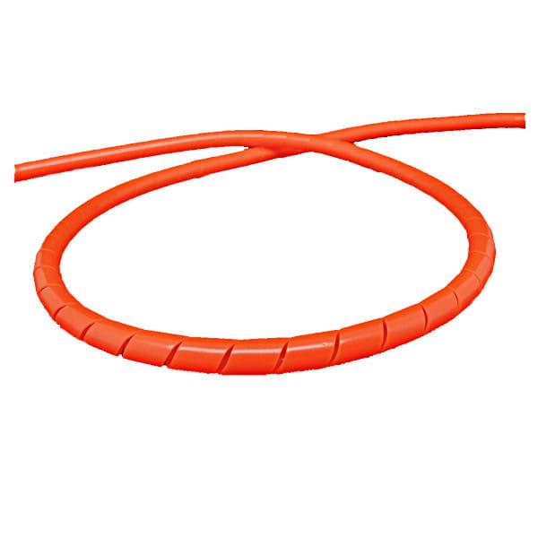 Spiral hose for brake line 2m - neon red