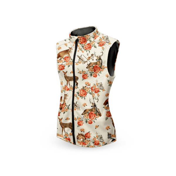 Women's technical vest - Forest Animals