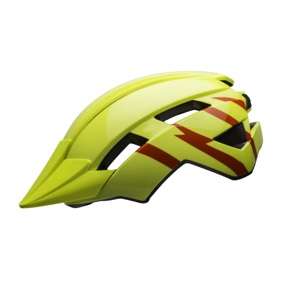Sidetrack II Kinder Fahrradhelm - Gelb/Blitz