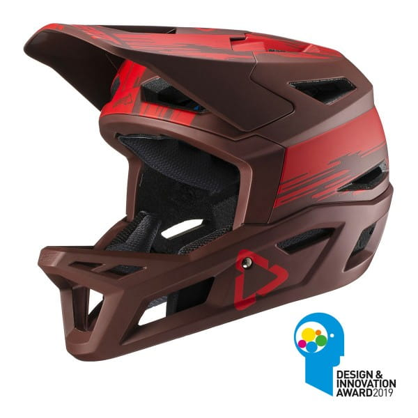 DBX 4.0 Super Ventilated Full Face Helm - Rot
