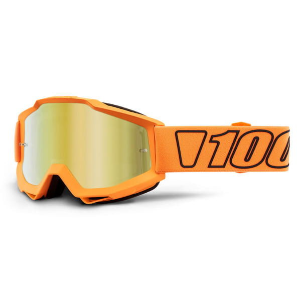 Accuri Goggles Anti Fog Mirror Lens -Orange/Schwarz