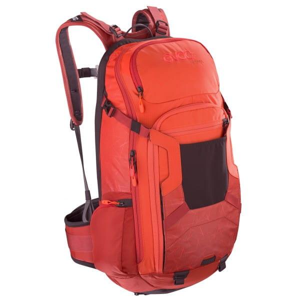 FR Trail 20l Protektoren-Rucksack - Orange/Chilli Rot