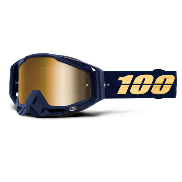 Racecraft Goggle Anti Fog Mirror Lens - Blau/Gold