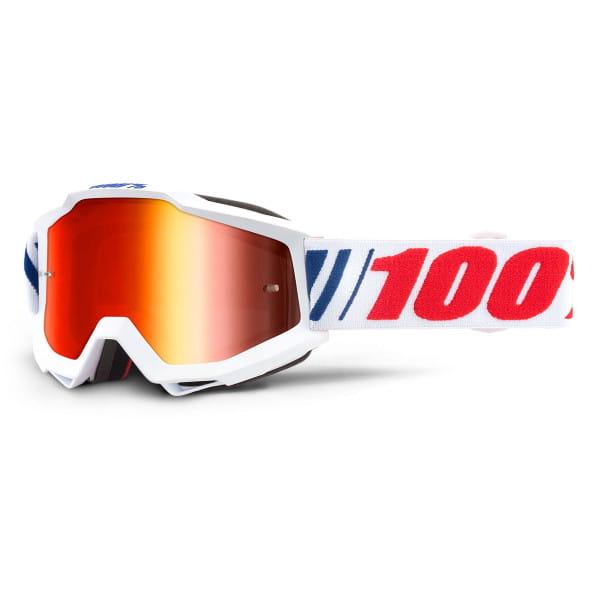 Accuri Goggles Anti Fog Mirror Lens -Weiß/Rot