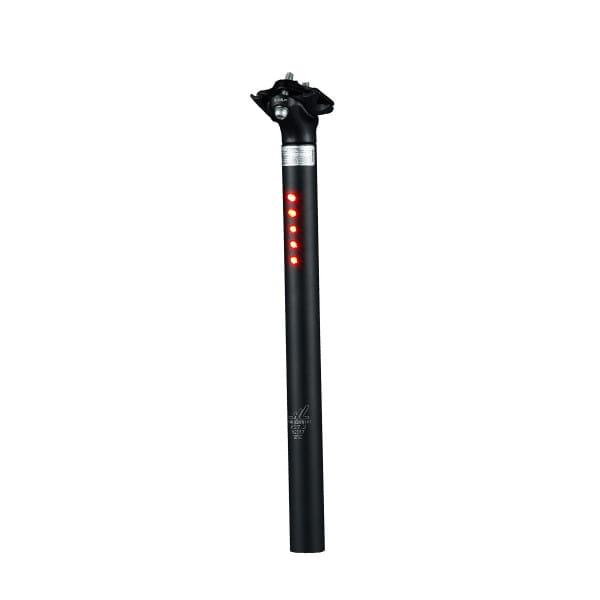 Sattelstütze mit 5 LED's StVZO - ø 25.4 mm - Schwarz