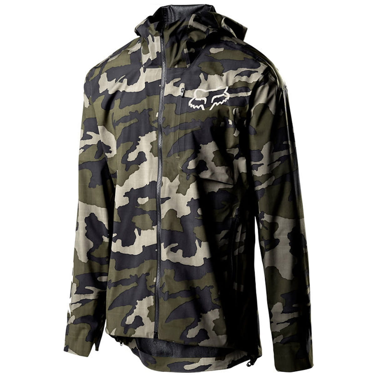 Flexair Pro 3L Rain Jacket Green Camo