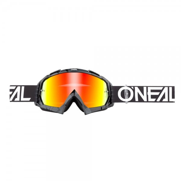 B10 Pixel Goggle - black/white - Glass radium red