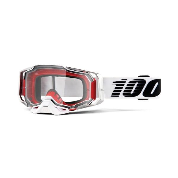 Armega Goggles Anti Fog - Weiß/Schwarz - Klar