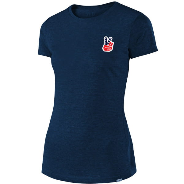 Peace & Wheelies - Damen T-Shirt - Heather Navy - Blau