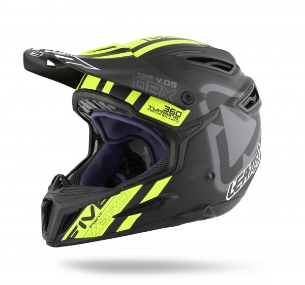 DBX 5.0 Composite Fullface Helm Black/Yellow