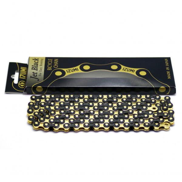 Jet Black Kette 1/2 x 1/8 Zoll - gold