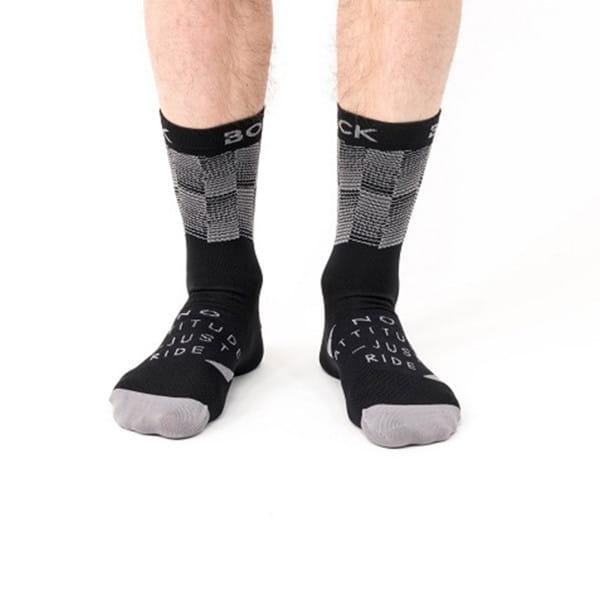 DORI Socken - Schwarz/Grau