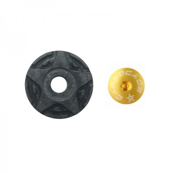 Top Cap Carbon 3D Aheadkappe - gold