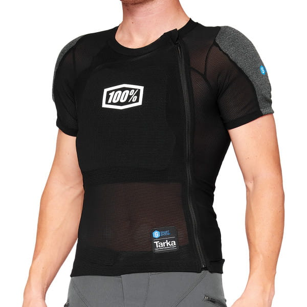 Tarka Short Sleeve - Protektor Shirt - Schwarz