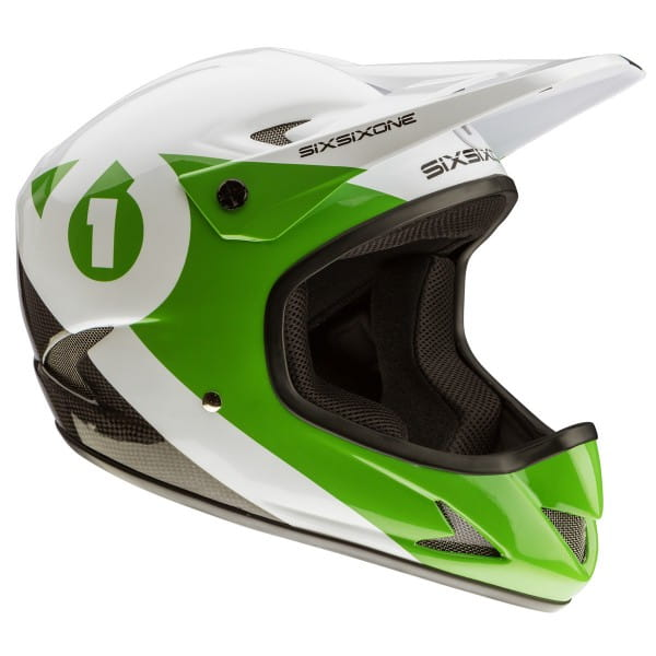 Rage Helm - green/white