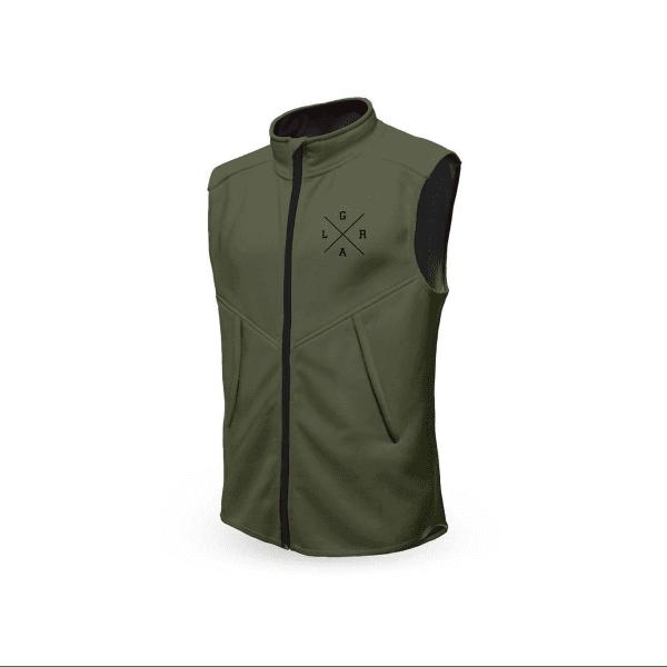 Technical vest - olive green