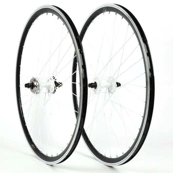 Singlespeed Fixie Laufradsatz 28 Zoll - schwarz / weiß
