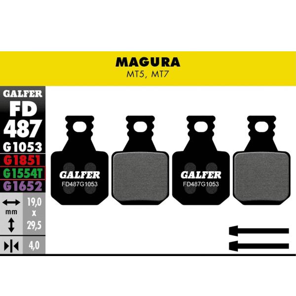 Pro Bremsbeläge für Magura MT5/7- Grün