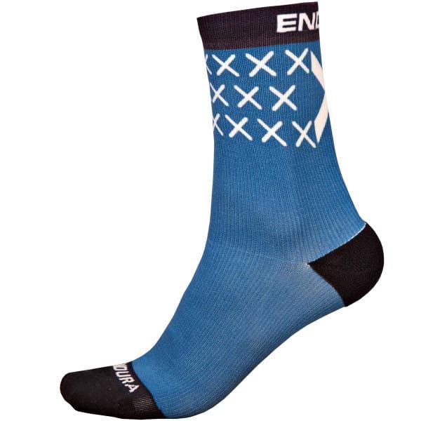 Socke Schottland Flagge - Blau/Schwarz