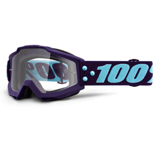 Accuri Goggle Anti Fog Clear Lens - Lila/Hellblau