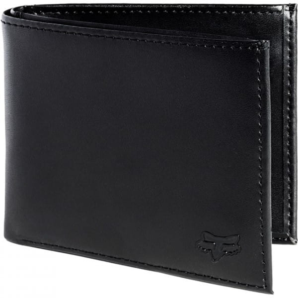 Bifold Leder Brieftasche - Schwarz