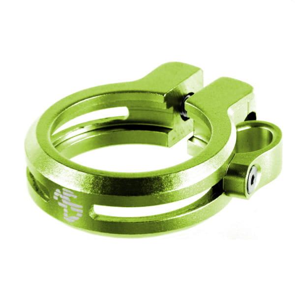 Sattelklemme mit Kabelführung 34,9 - grün
