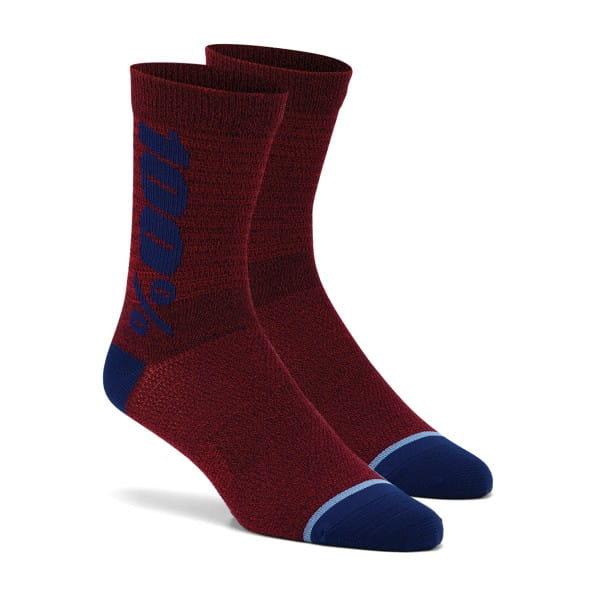 FÜR NEW ORDER Rythym Socken - Rot/Blau