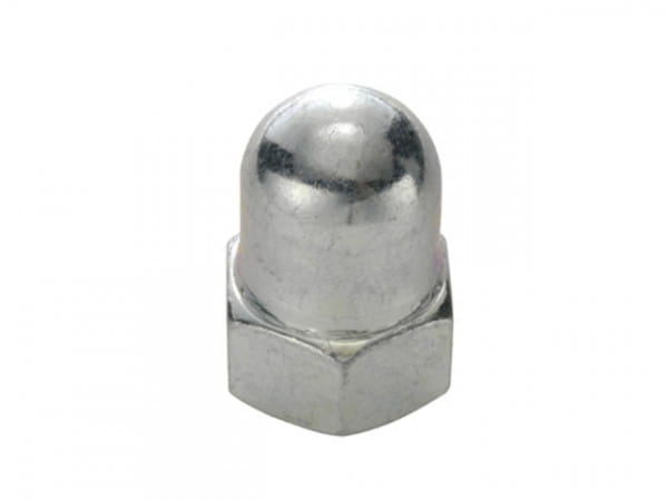 Achs-Hutmutter aus Stahl für 9mm VR-Achse - unterkupfert