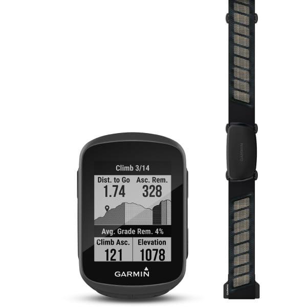 Edge130 Plus - GPS-Fahrradcomputer - HRM-Bundle - Schwarz