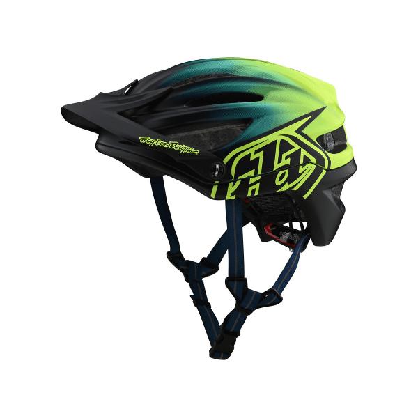 A2 Helmet (Mips) Helm - Stain'd Blau/Gelb