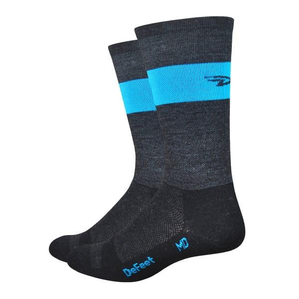 Wooleator Socken - Charcoal Grau/Blau