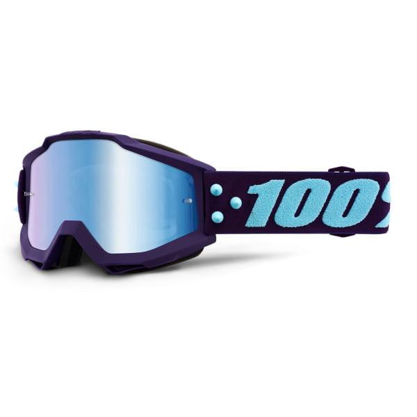 Accuri Goggle Anti Fog Mirror Blue Flash Lens - Lila/Blau