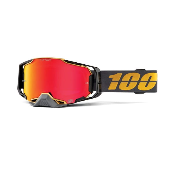 Armega Goggle Anti Fog - Grau/Gold - verspiegelt