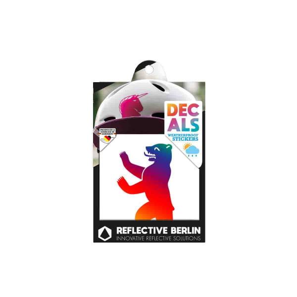 Reflective DECAL - Berliner Bär - rainbow