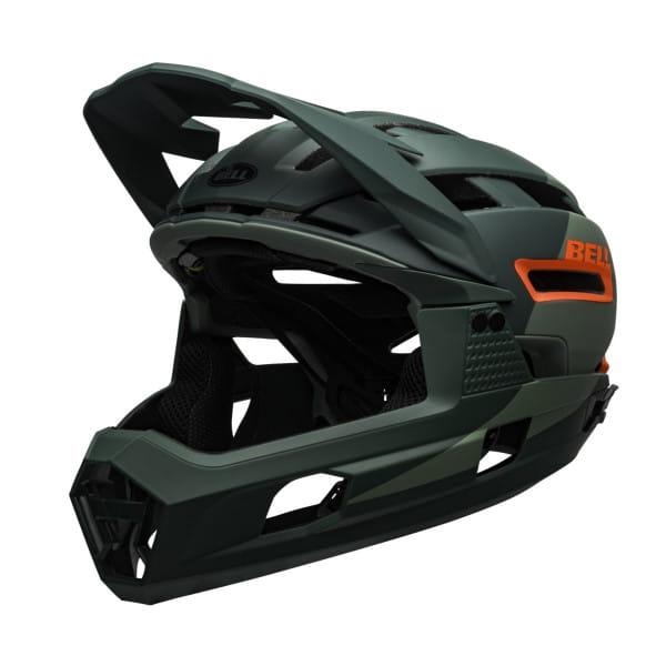 Super Air R Mips Fahrradhelm - Grün/Orange