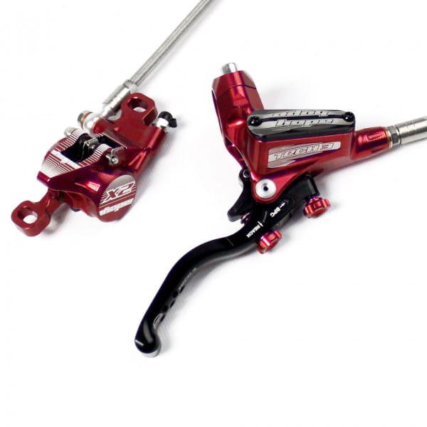 Tech 3 X2 Scheibenbremse Stahlflexleitung - rot