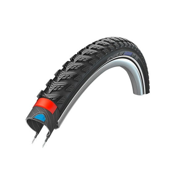 Marathon GT 365 Drahtreifen - 28x2.15 Zoll - Four Season - Reflexstreifen - schwarz