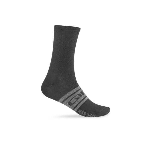 Merino Winter Socken - Schwarz Grau