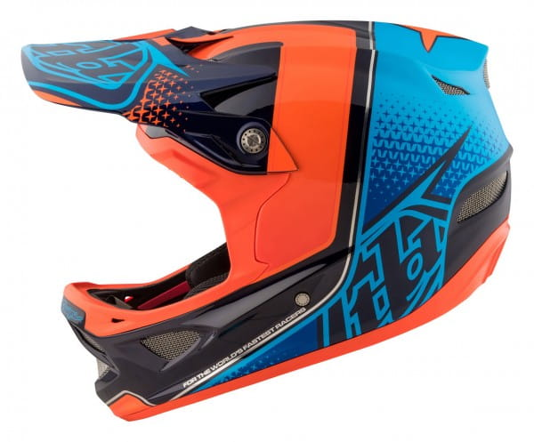 D3 Carbon MIPS Fullface Helm Starburst Orange